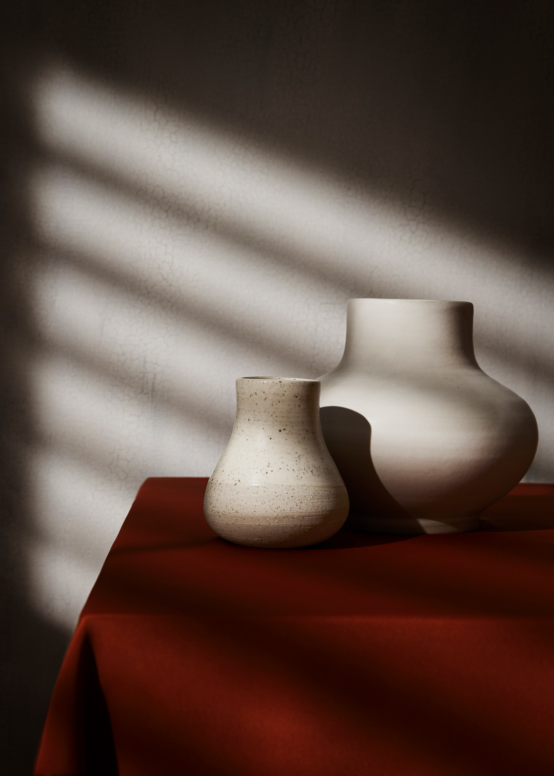 minimal pottery still life photography on table