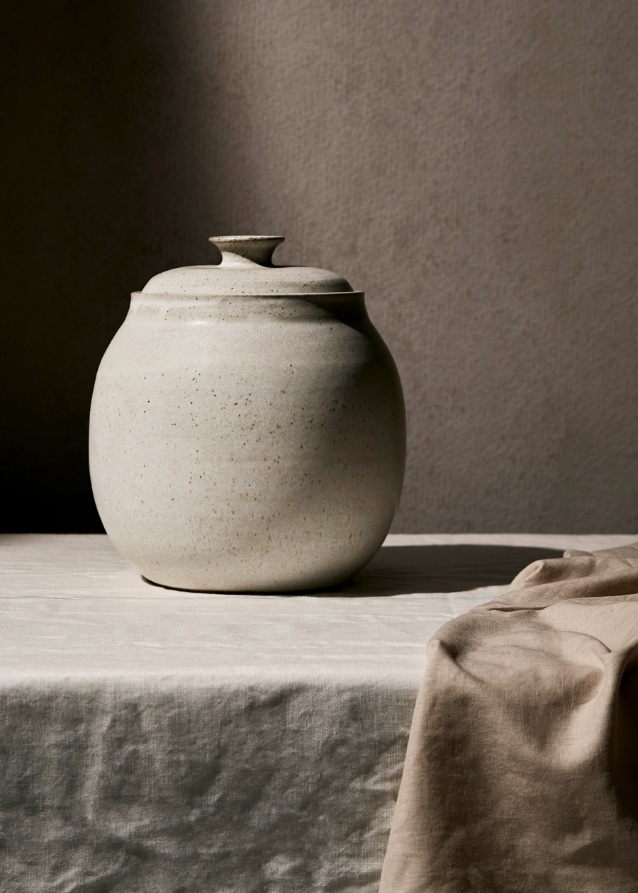 large jar on linen kirsty owen lifestyle photography