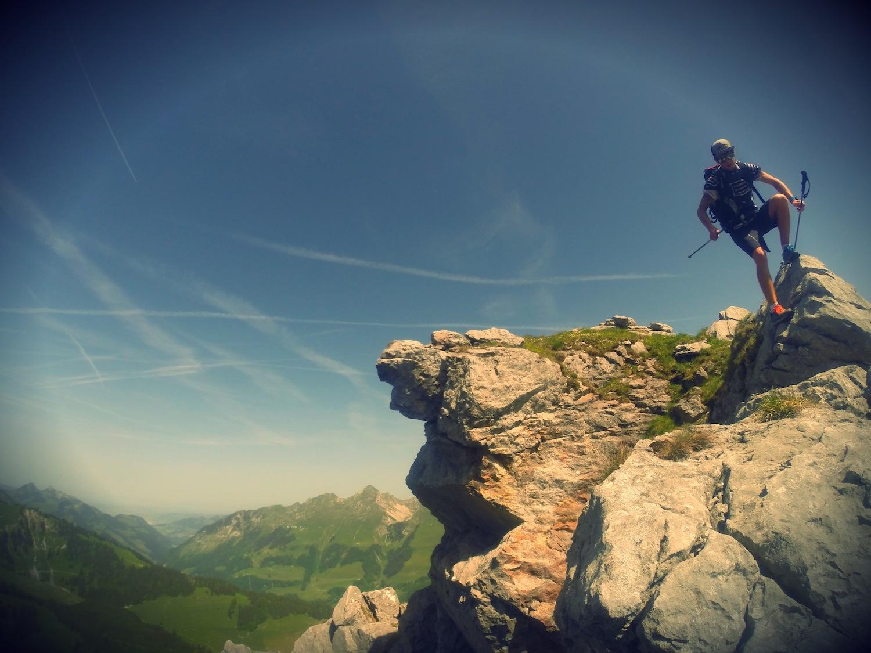 Dani sammelt Höhenmeter in Jaun-Gastlosen.