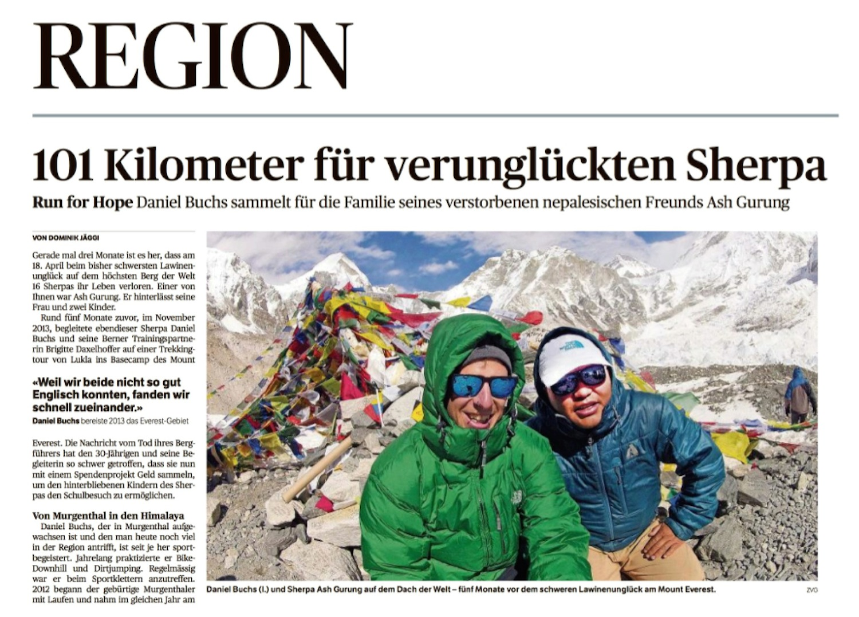 Zofinger Tagblatt, 17. Juli 2014