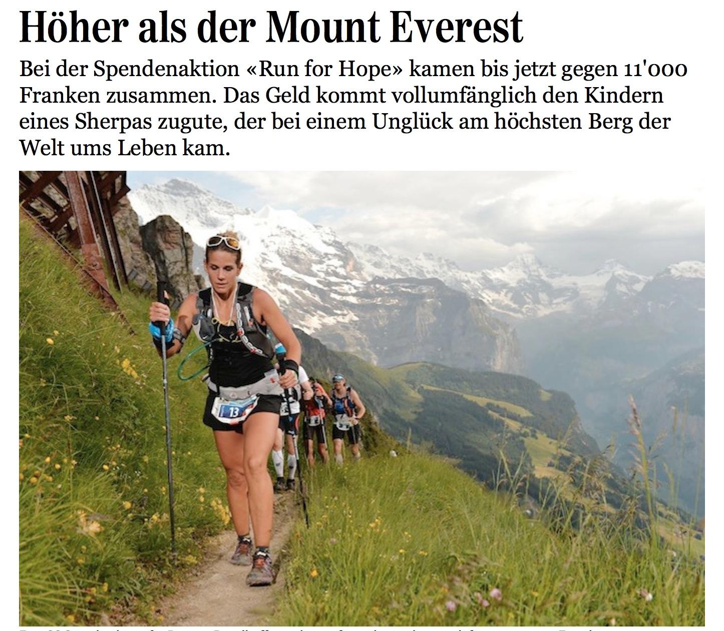 Jungfrau Zeitung, 12. August 2014