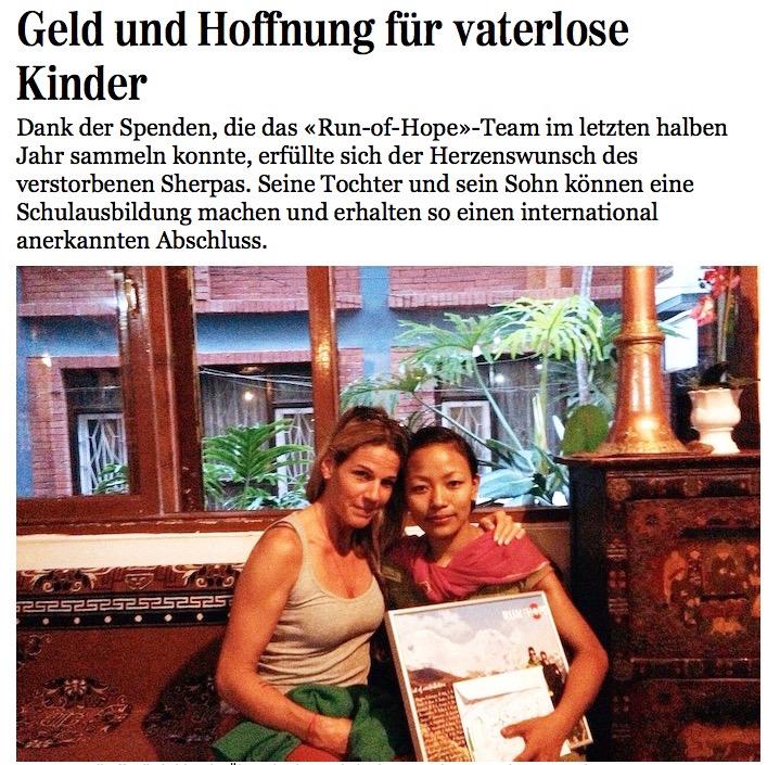 Junfrau Zeitung, 11. November 2014