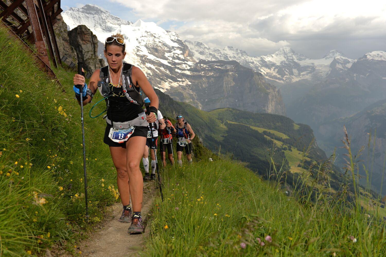 Brigitte Daxelhoffer beim Eiger Ultra Trail 2014
