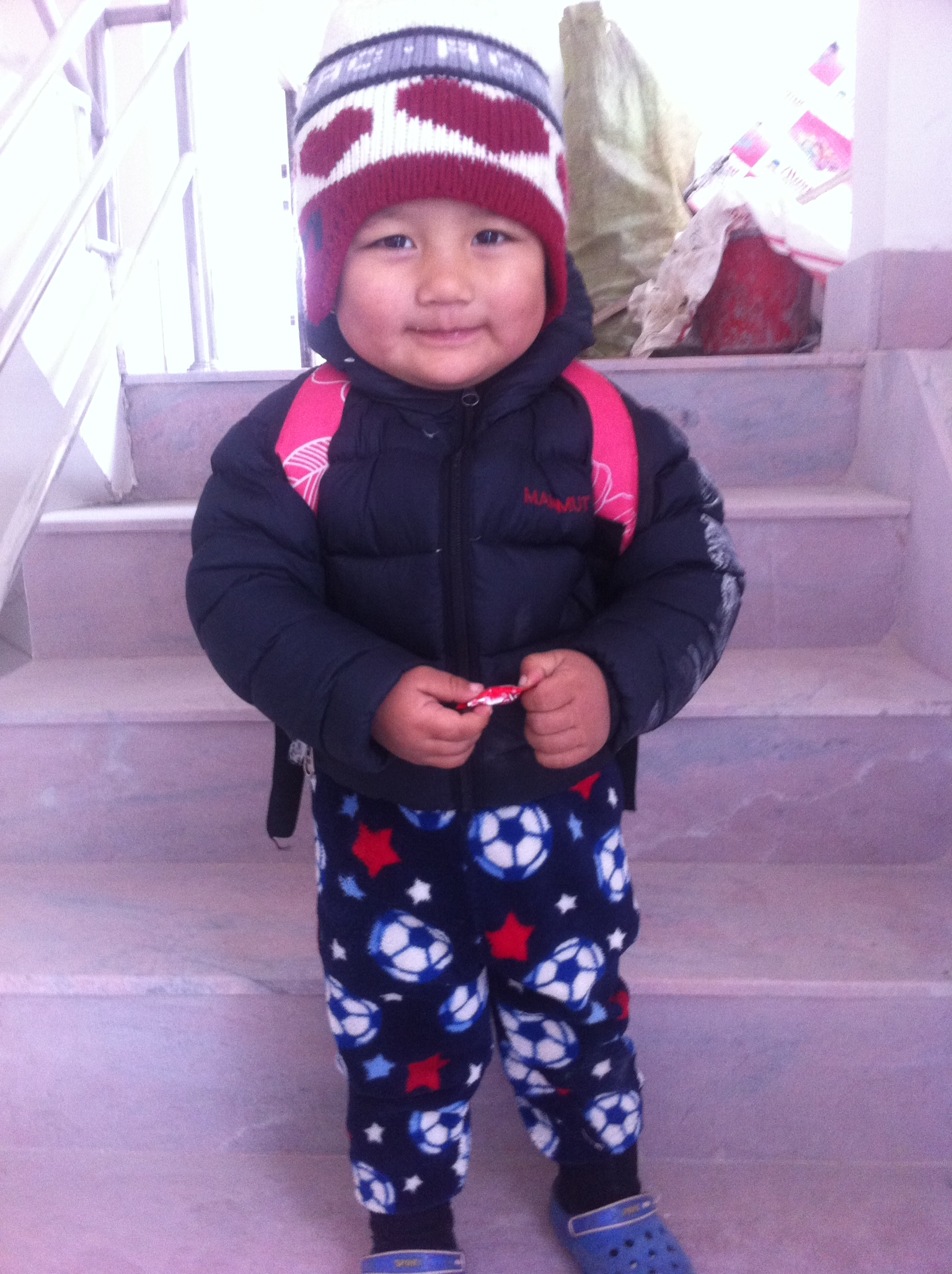 Abin Gurung in der Udhyan Vorschule in Kathmandu.