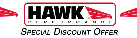 HAWK Performance    To get your discount click the following link  www.hawkperformance.com  , pick out your parts, add them to your cart and at check out enter the code HAWKCORVETTE on the screen following the credit card information page.