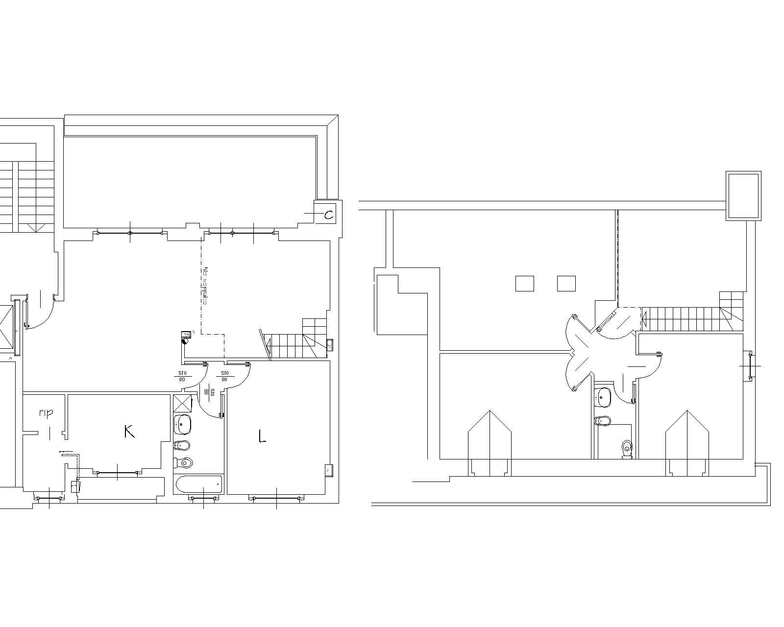 Progetto all'acquisto: planimetria dei due livelli