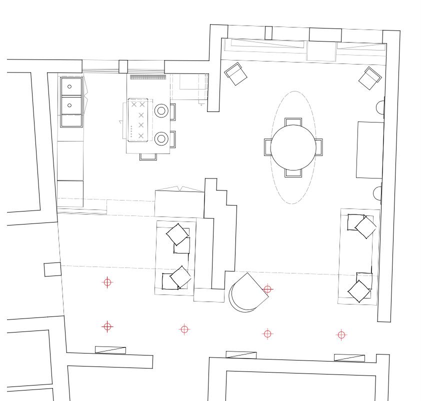 planimetria ristrutturazione d'interni e restyling appartamento - Venezia - AMLT Design