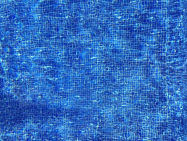 Our pool. Azul.
