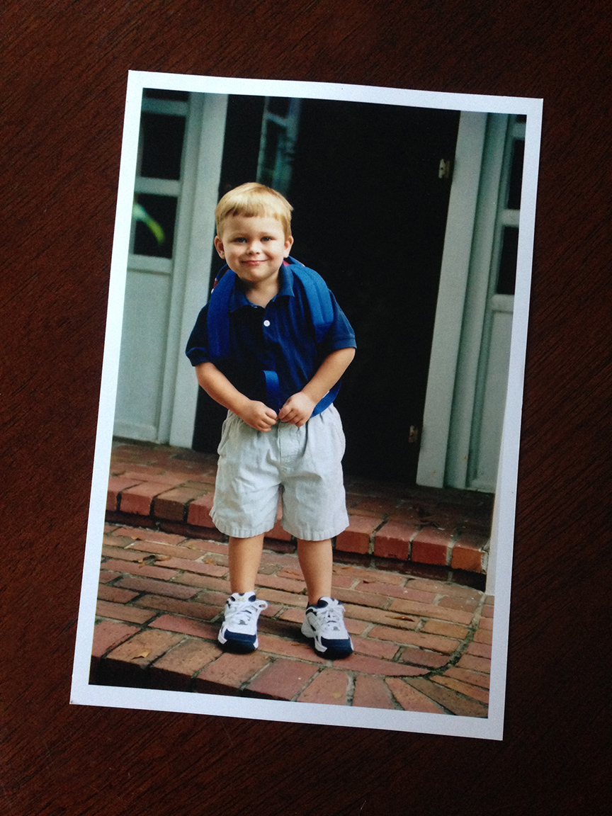 My little man...August, 2005. On his first day of preschool.