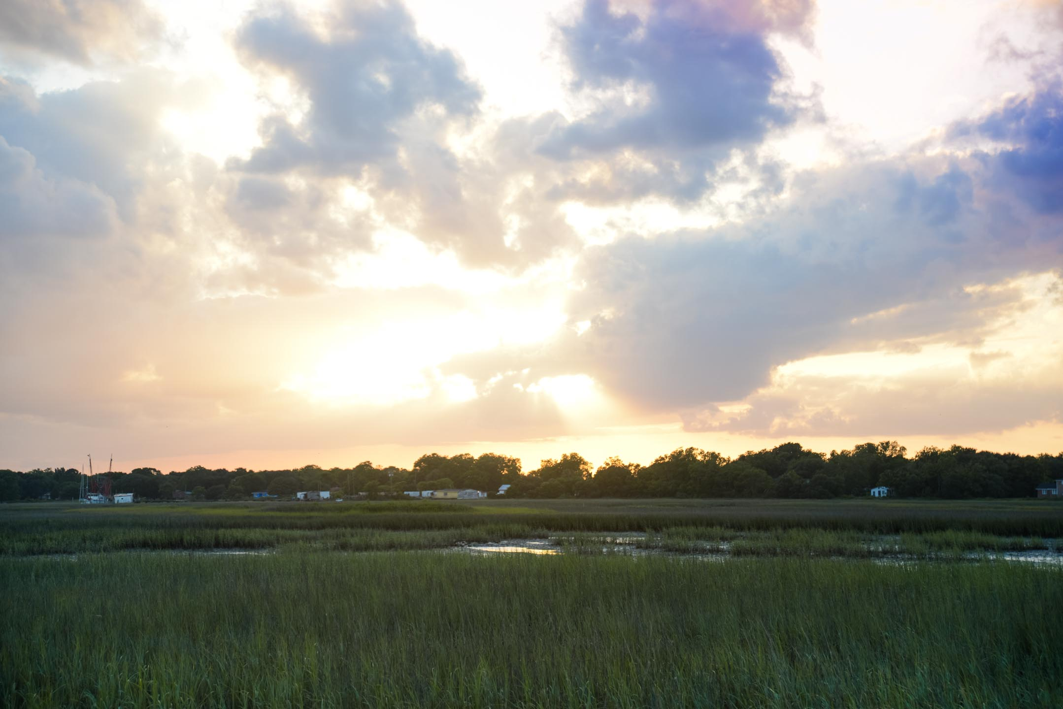 A gorgeous Lowcountry Sunset on James Island.