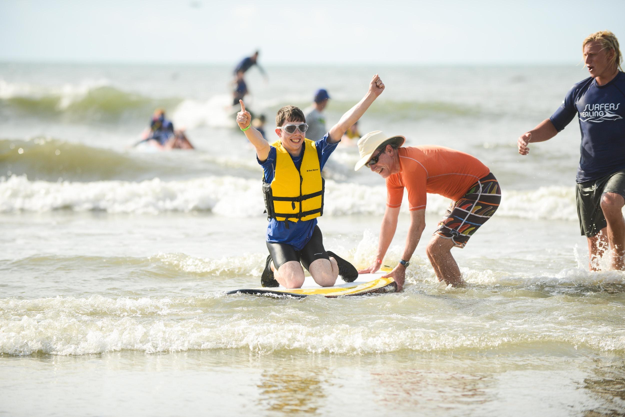 Surfers Healing Event. Folly Beach, SC