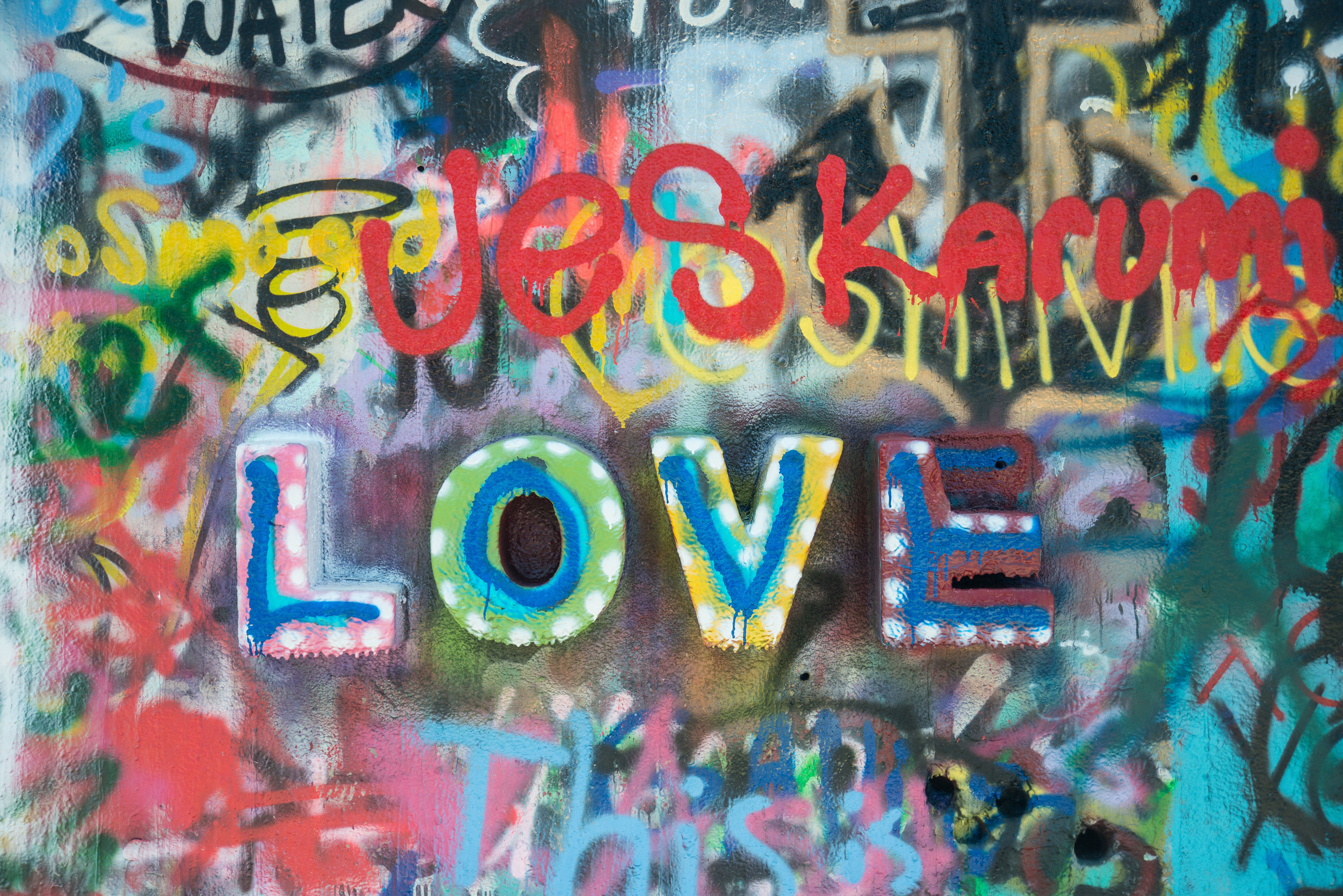 Love. From the graffiti wall in Austin, TX.