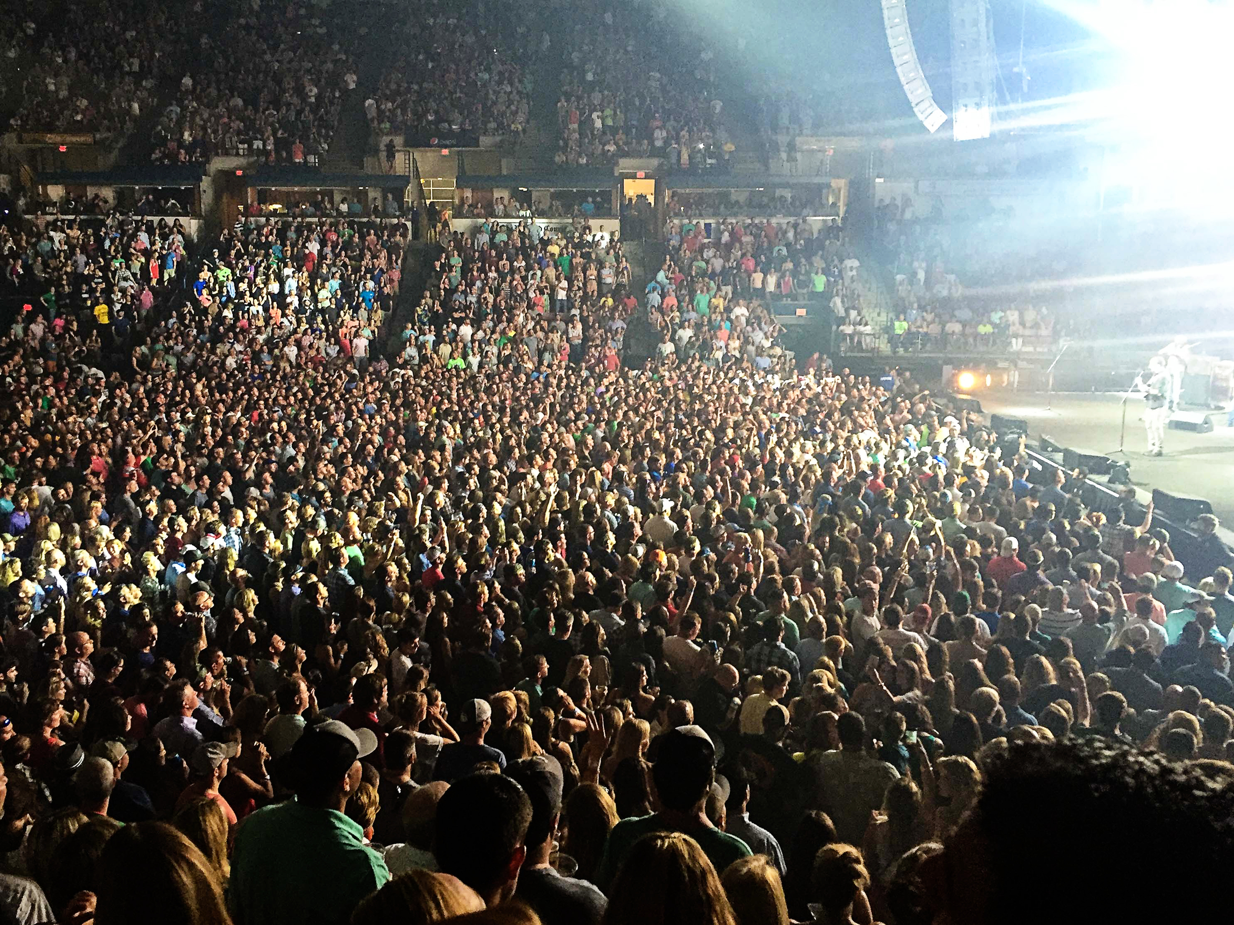 The Dave Matthews Band last week at the N. Charleston Coliseum. Taken with my trusty iPhone.