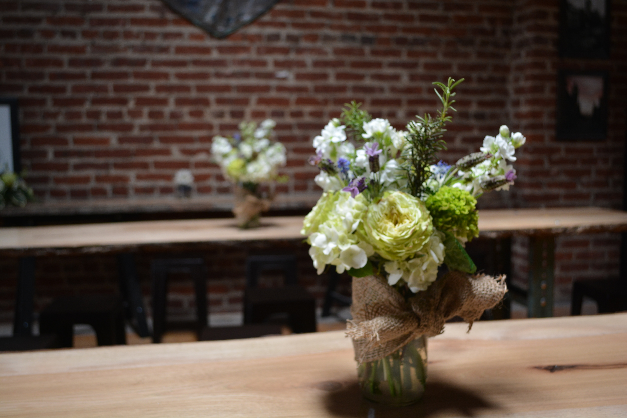 Tabletop bouquets by L eRoy French Flowers