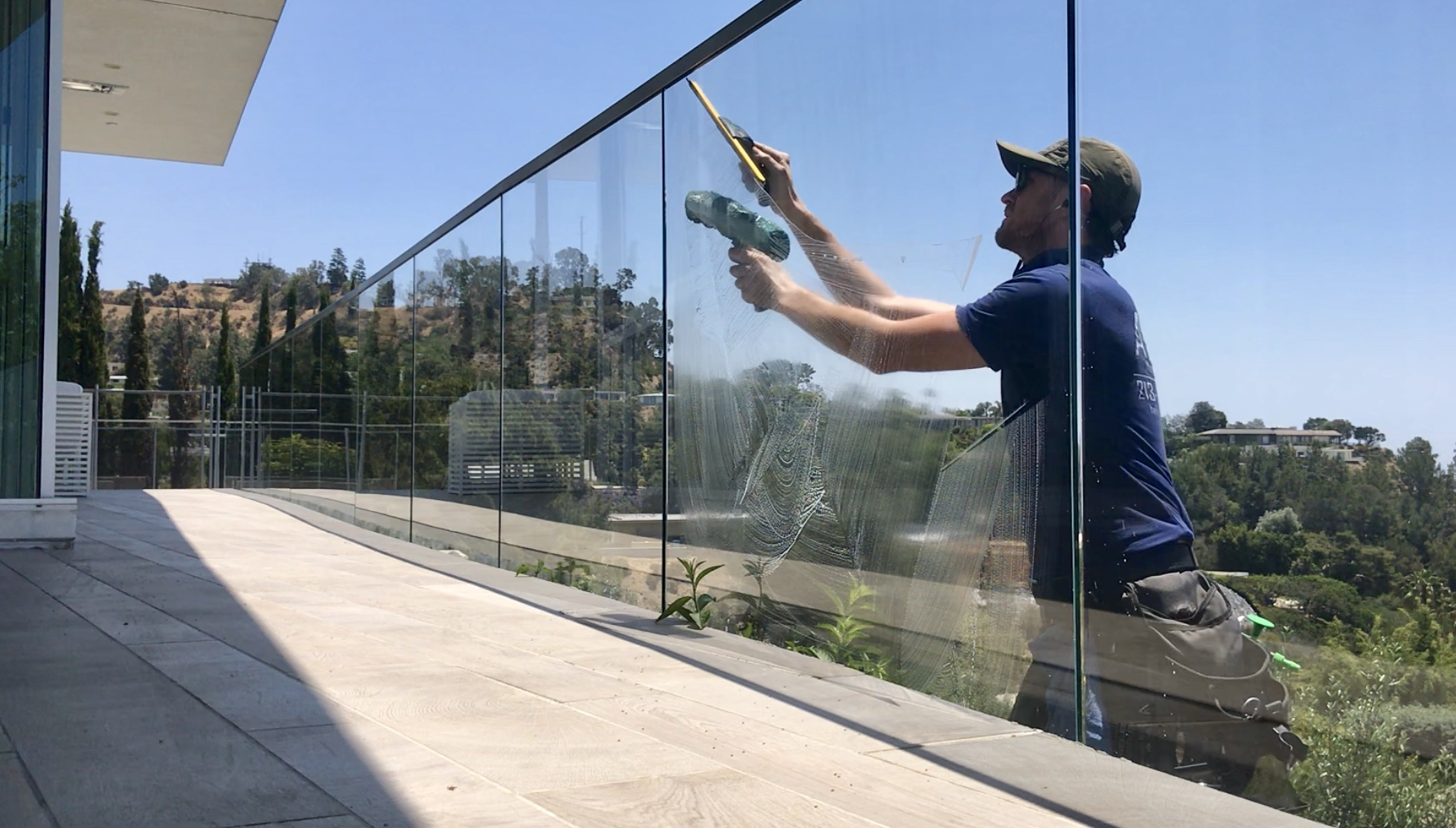 Keeping those windows spotless in Beverly Hills