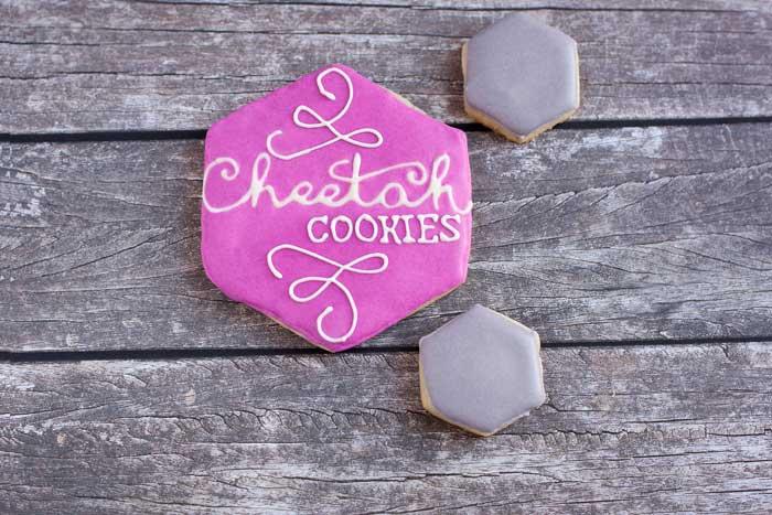 Cheetah Cookies logo in cookie form.