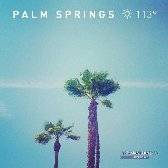 It was HOT in Palm Springs