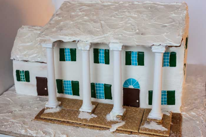 Plantation Style Gingerbread House