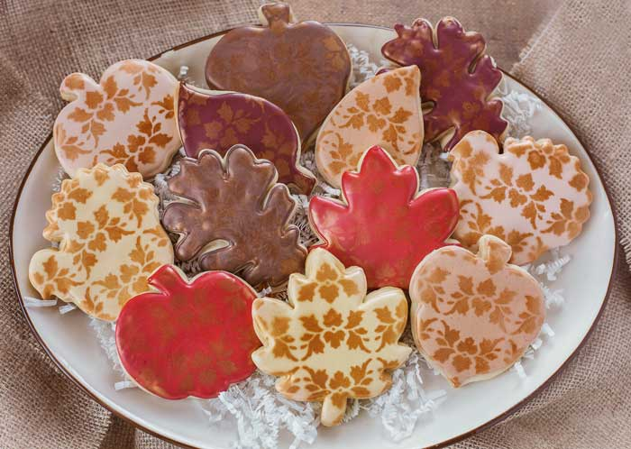 Fall Damask Cookies