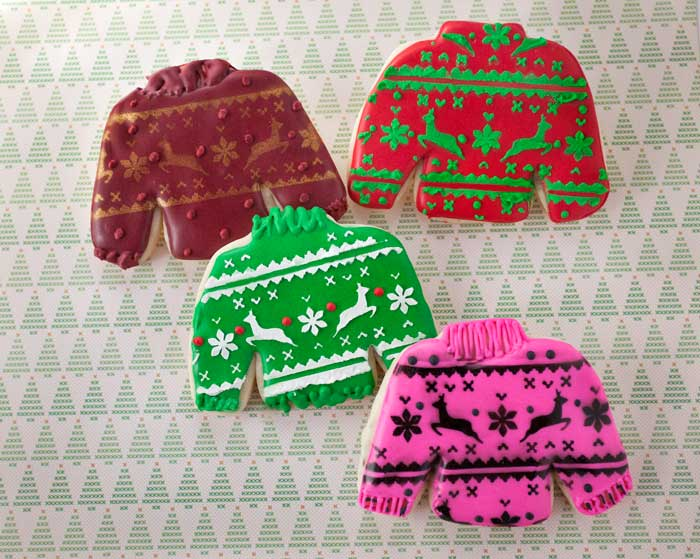 Fair Isle Sweater Cookies