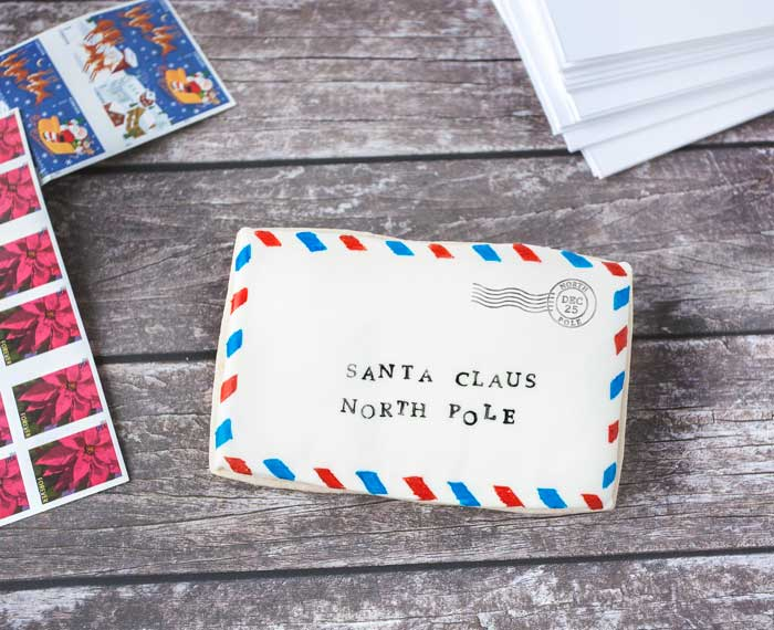Letter to Santa Claus Cookie