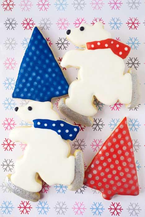 © Skating Polar Bear Cookies
