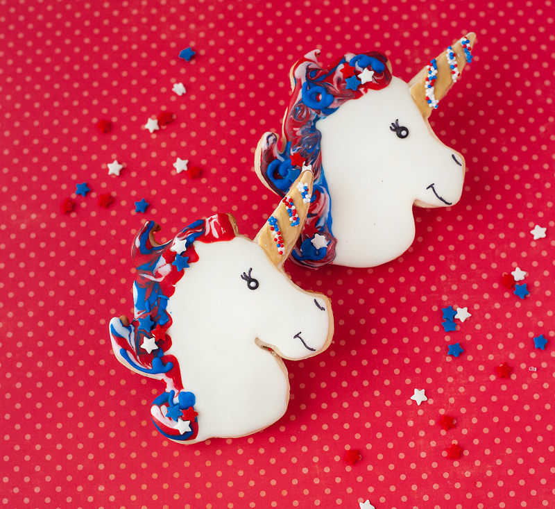 © Patriotic Unicorn Cookies