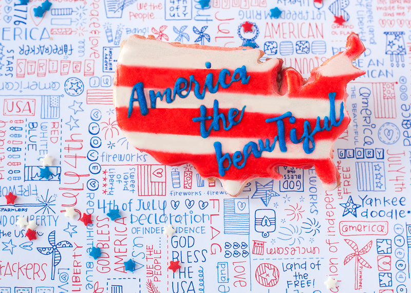 © America the Beautiful cookie