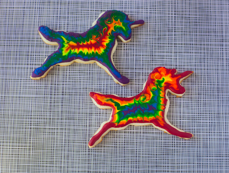 © Tie-Dye Unicorn Cookies