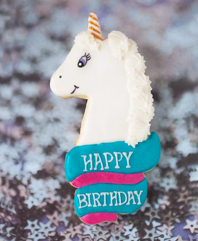 © Happy Birthday Unicorn Cookie