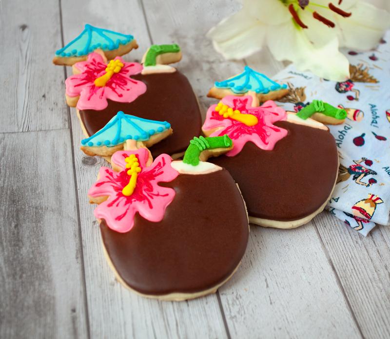 © Tropical Coconut Drink Cookies