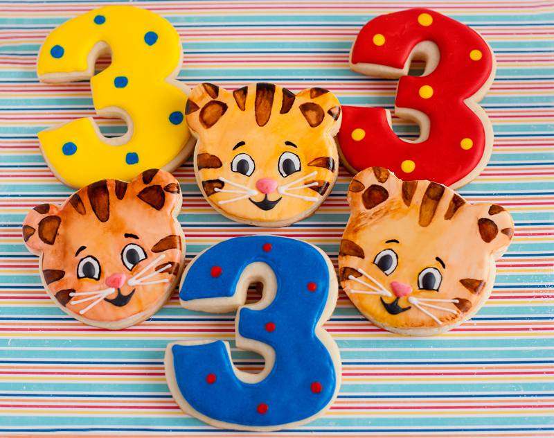 © Daniel Tiger Birthday Cookies