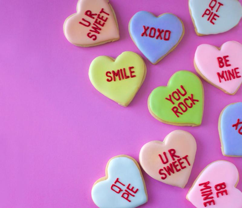 ©  Conversation heart cookies