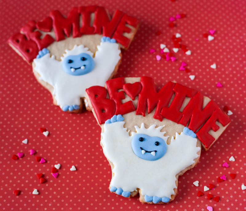© Will Yeti Be Mine Valentine's Day Cookies