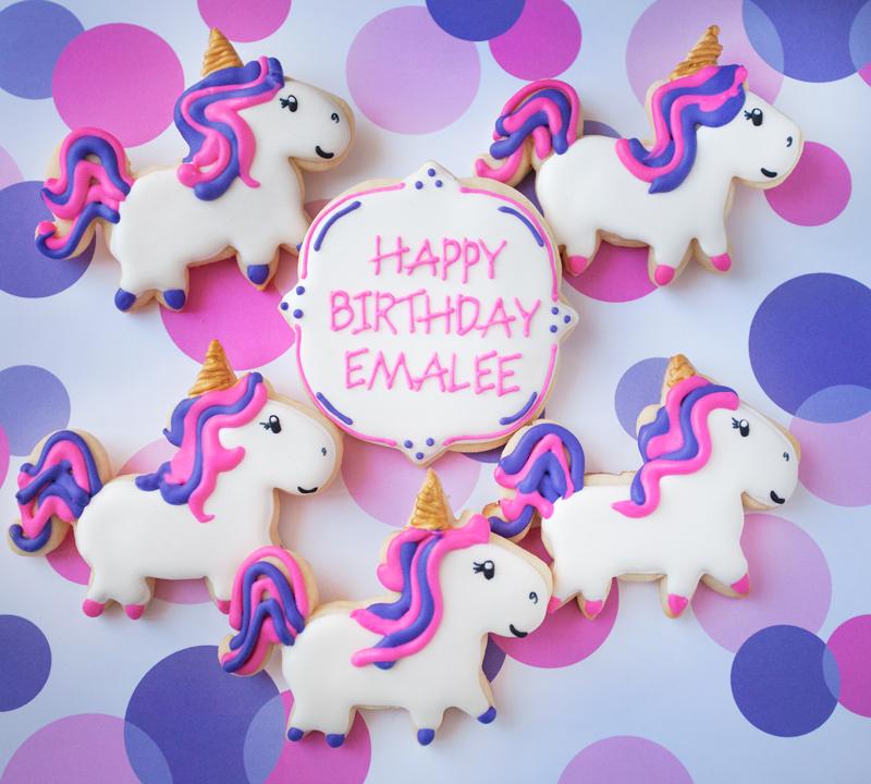 © Birthday Unicorn Cookies