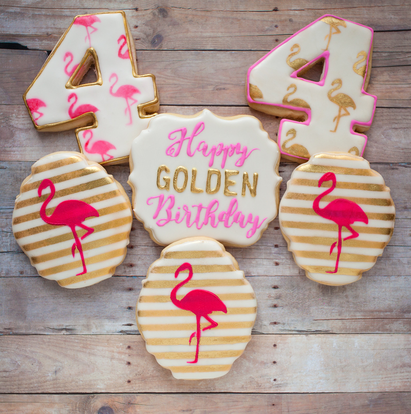 © Flamingo Golden Birthday Cookies