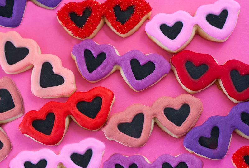 © Heart Sunglasses cookies