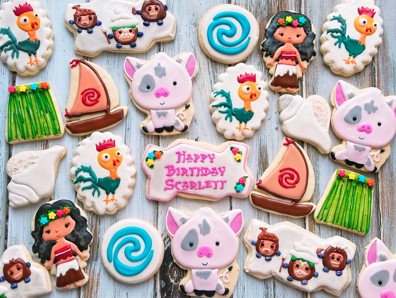 © Moana Birthday Cookies