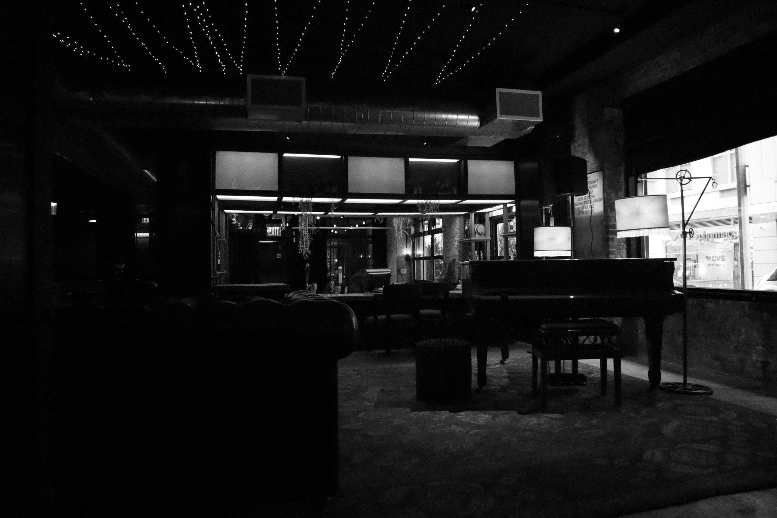 A hotel lobby in New York