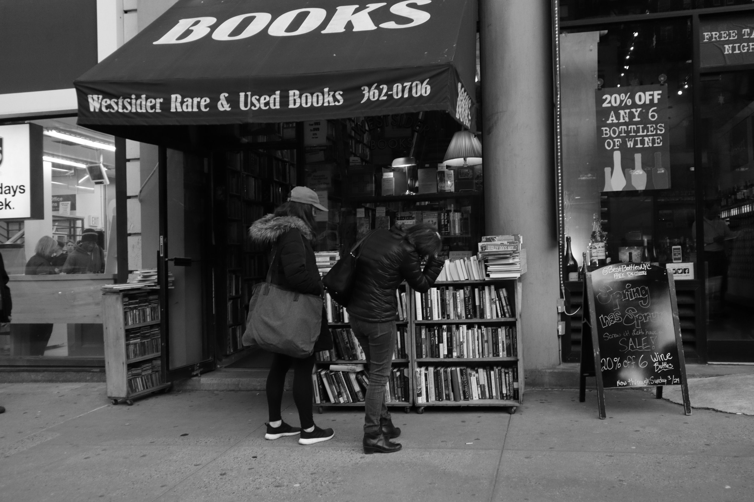 Book shopping in New York