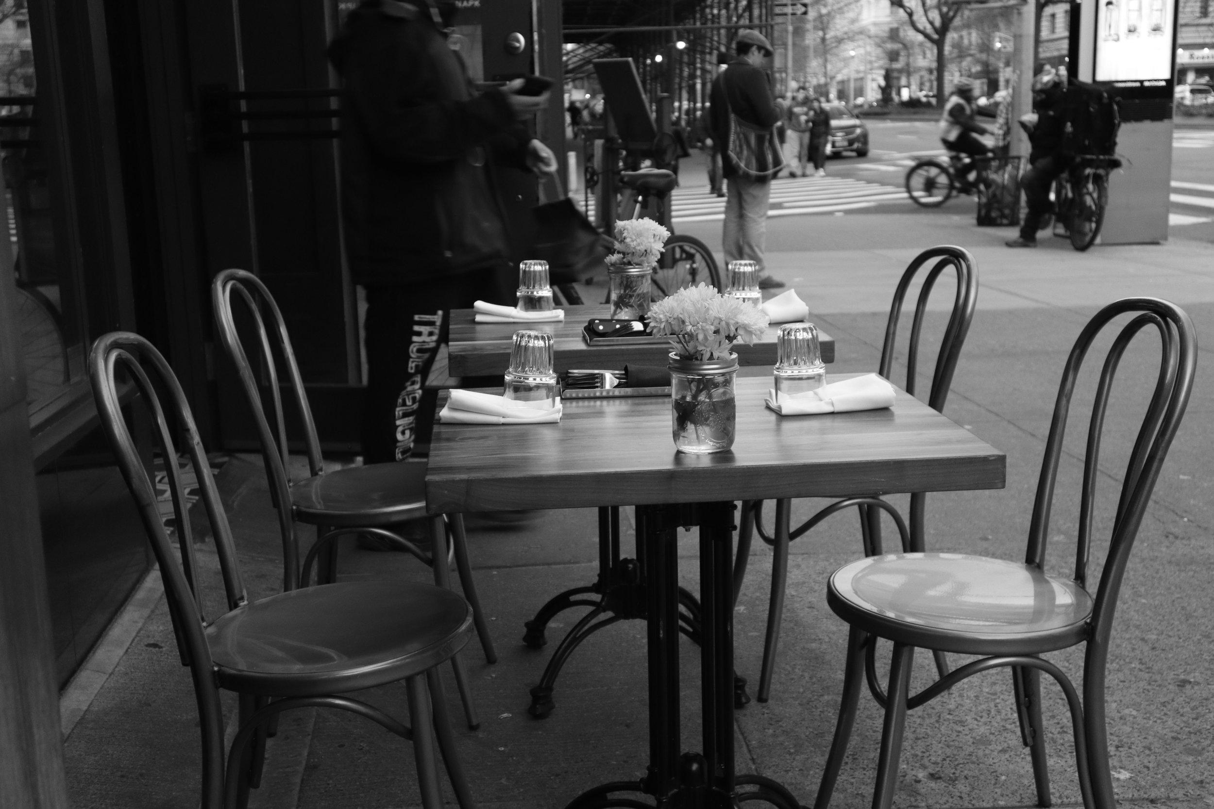 Brunch outside in New York