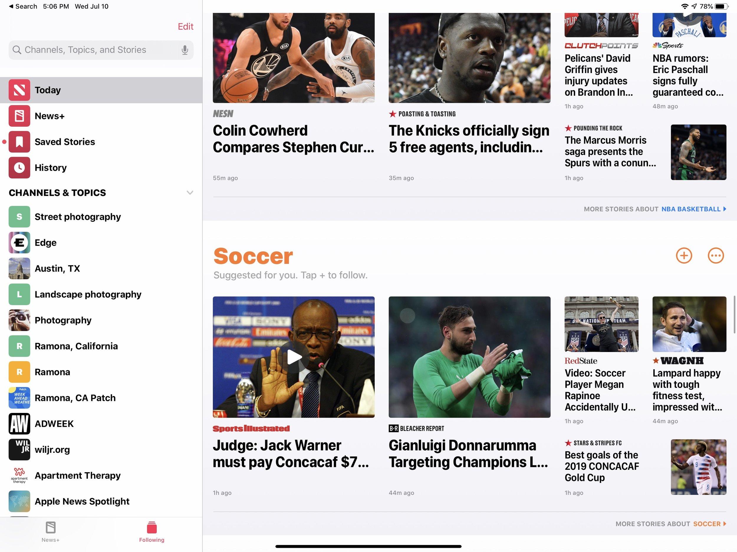 Apple News: iPadOS 13
