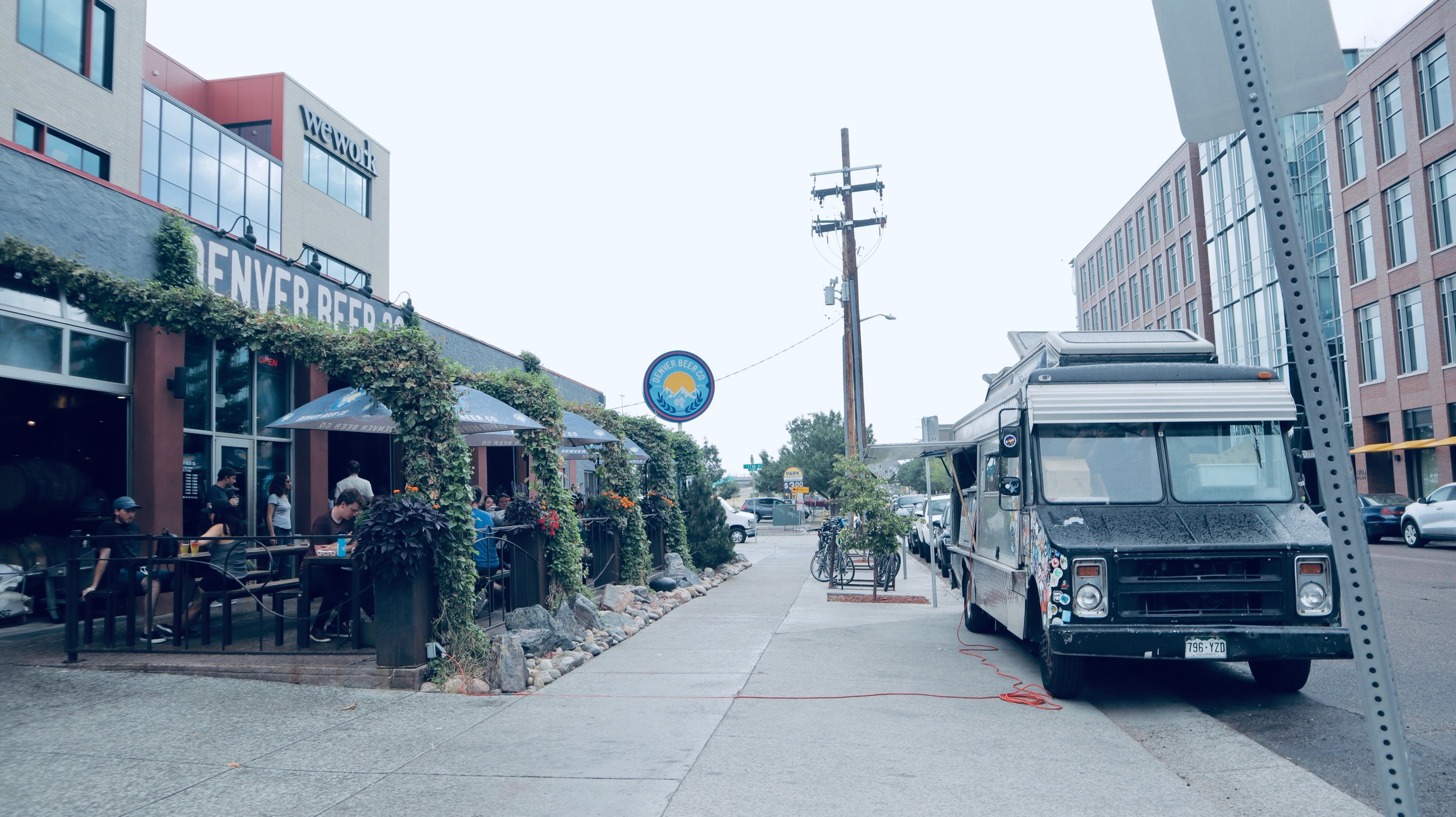 Food truck at the Denver Beer Company