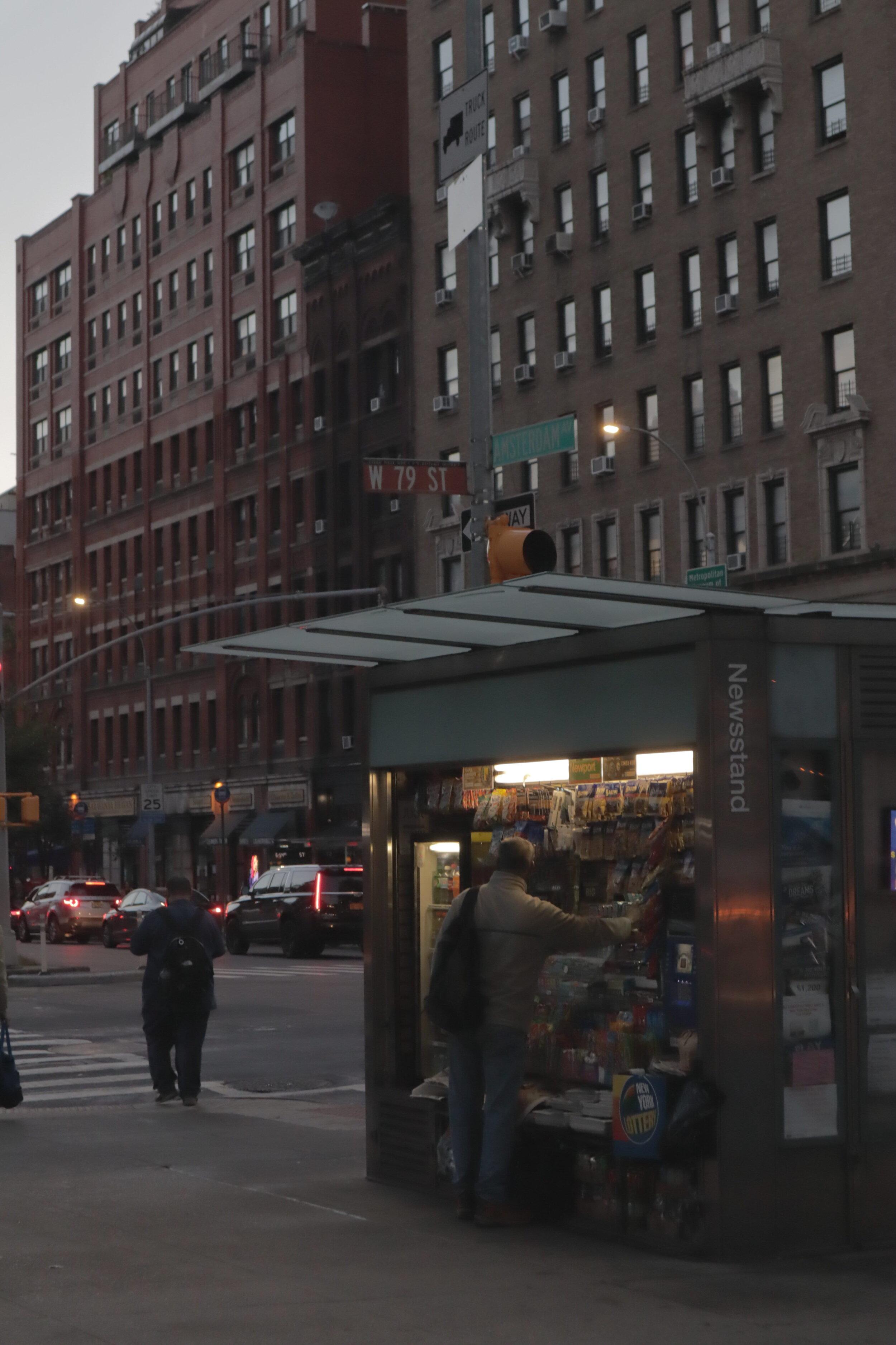 Corner shops in New York