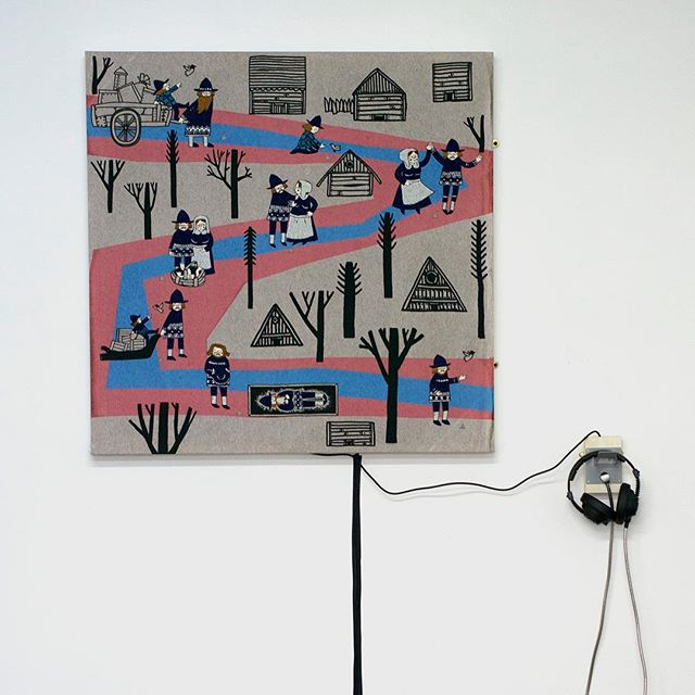 This will be at @beerslondon for the Contemporary Visions Vll. Private view tomorrow 6-8pm. Pop along. It'll be fun. #contemporaryart #soundart #exhibition #embroidery #handembroidery #thread #sonicart #interactiveart #conductivethread #folktale #art