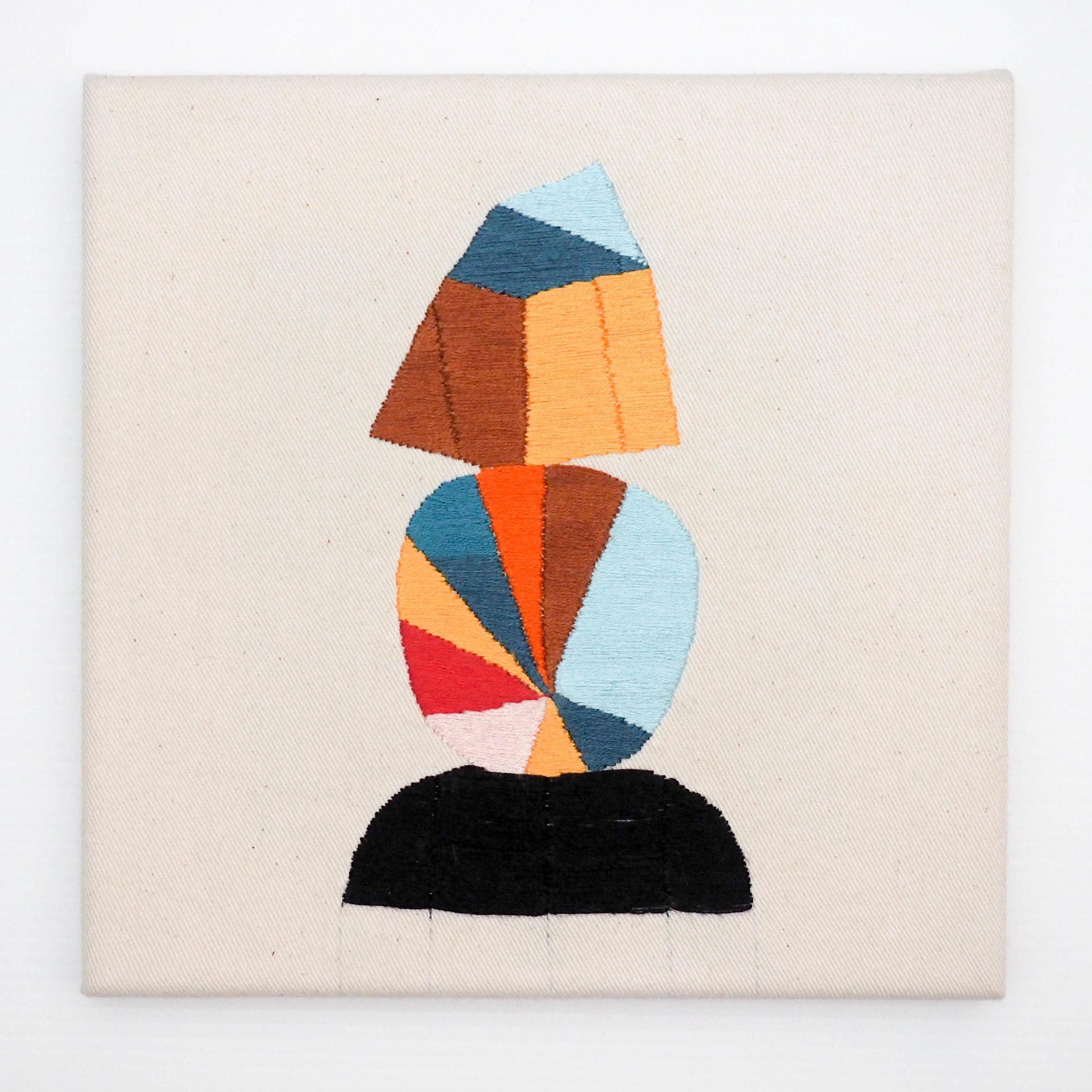 Castalian Order  Hand embroidery on fabric, 2017 20 x 20 cm