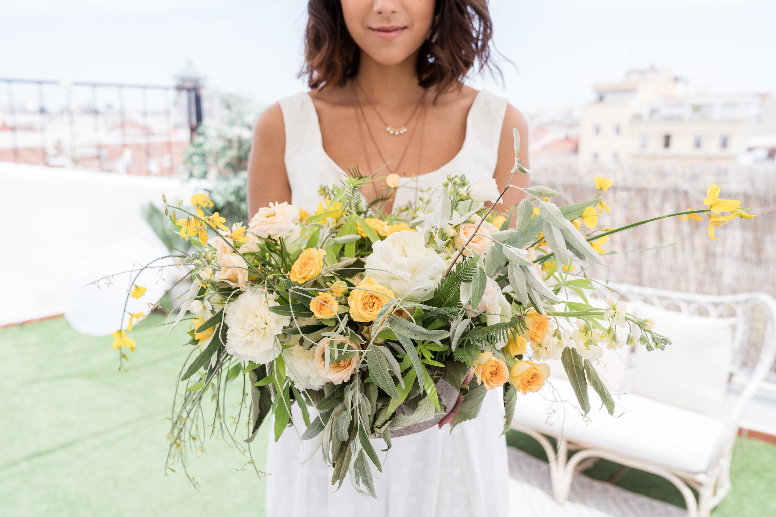 Brautstrauss-Blumen-Hochzeit