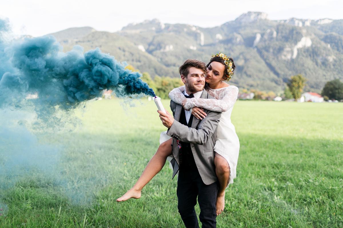 Berge Hochzeit Farbe