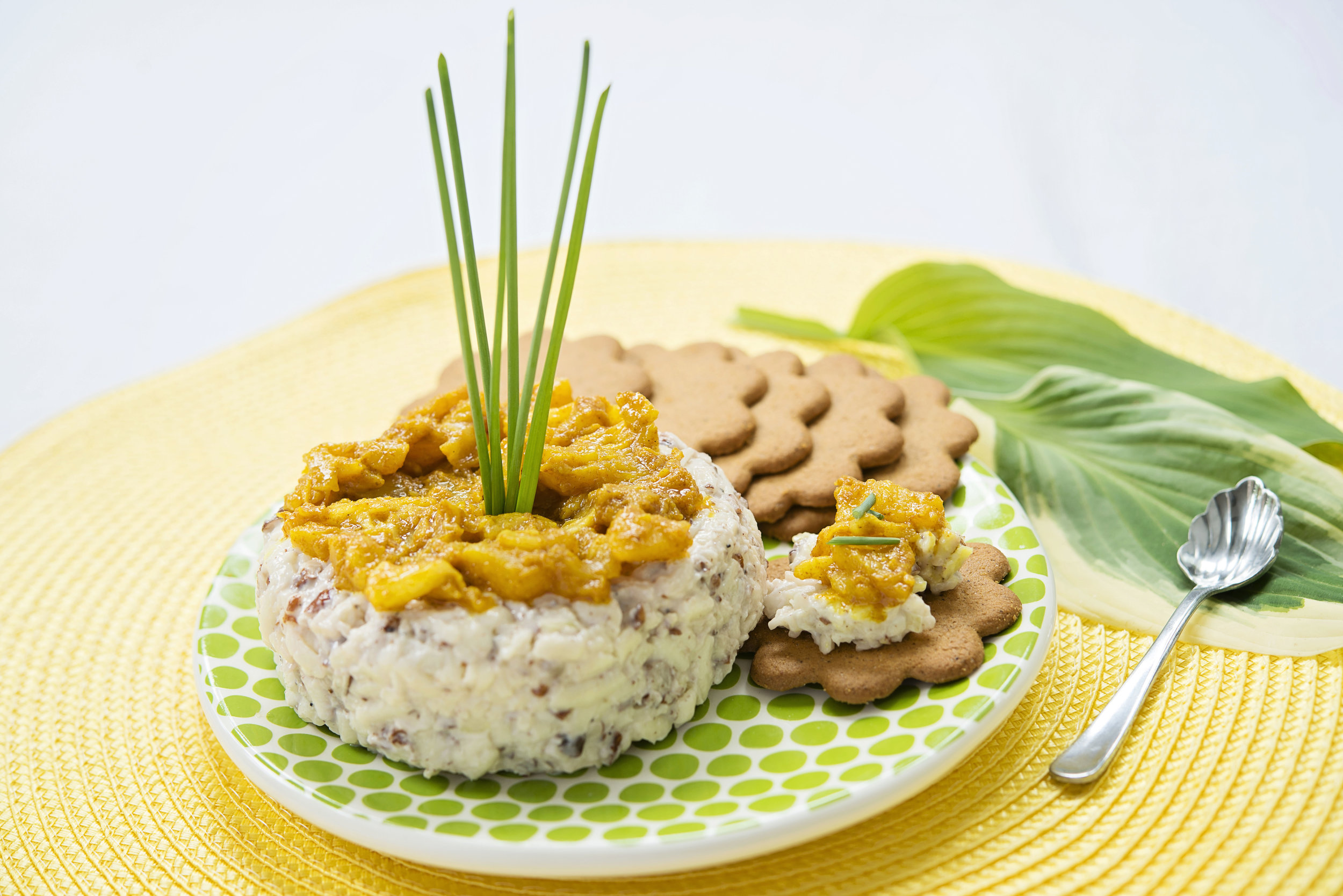 Cheddar and Pecan Pate with Curried Caramelized Pineapple - Dunnington.jpg