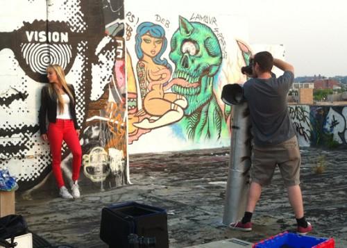 Miasha Fisher Video Shoot